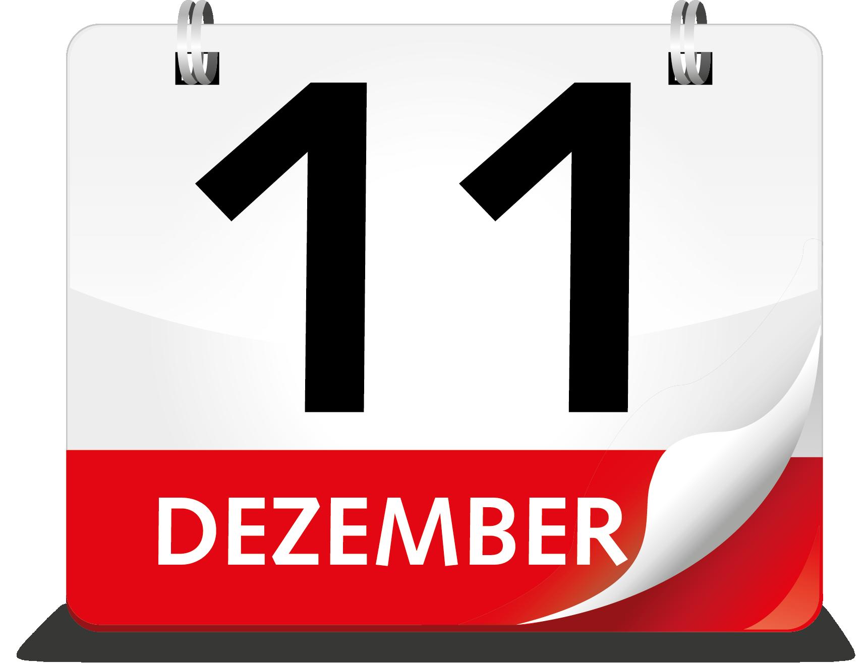Kalenderblatt Dezember 11.