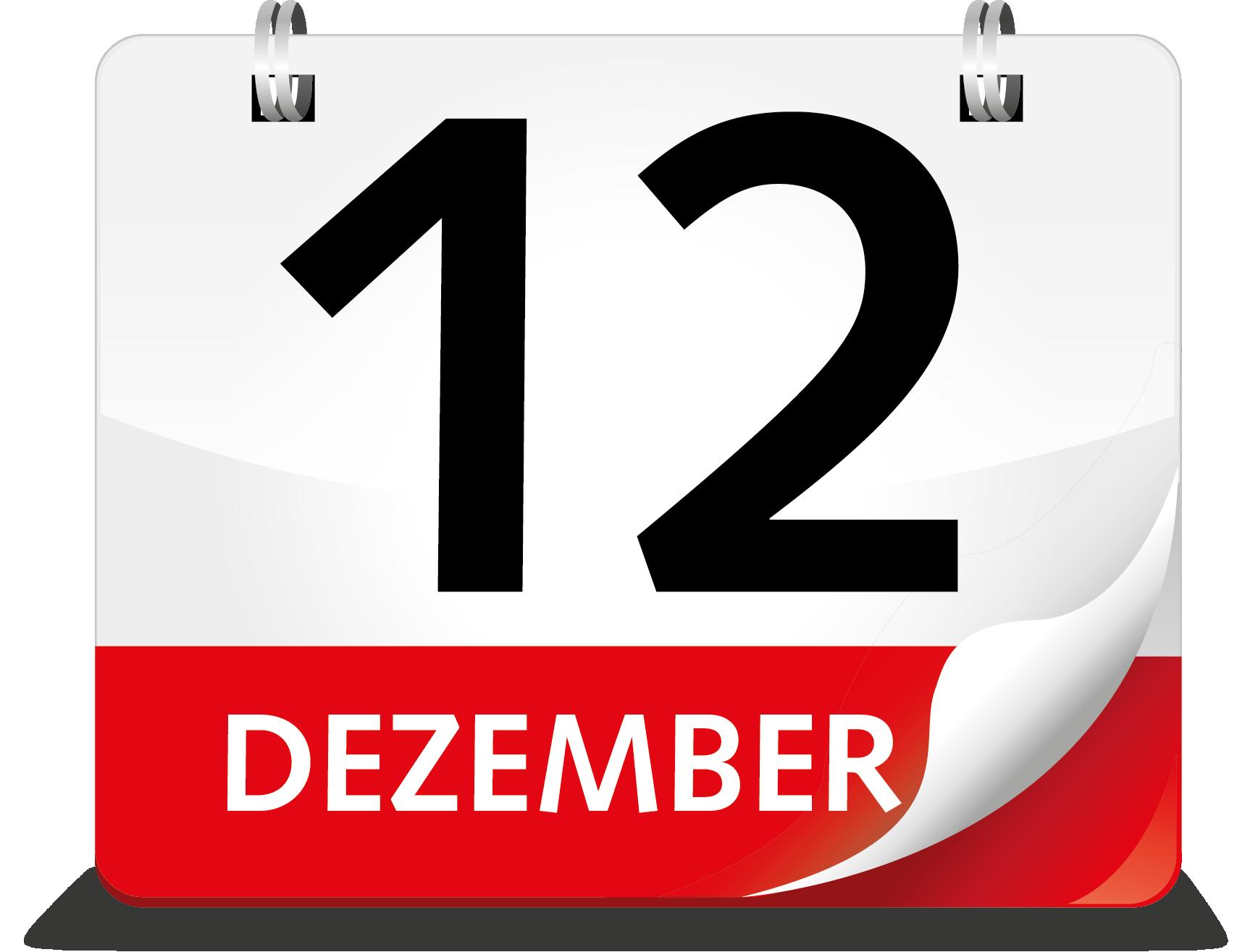 Kalenderblatt Dezember 12.