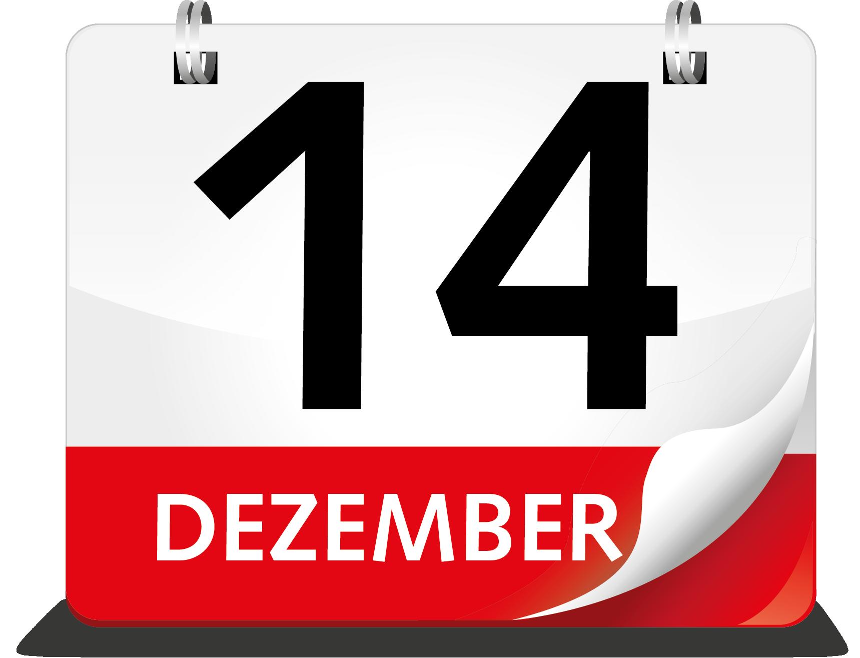 Kalenderblatt 14. Dezember