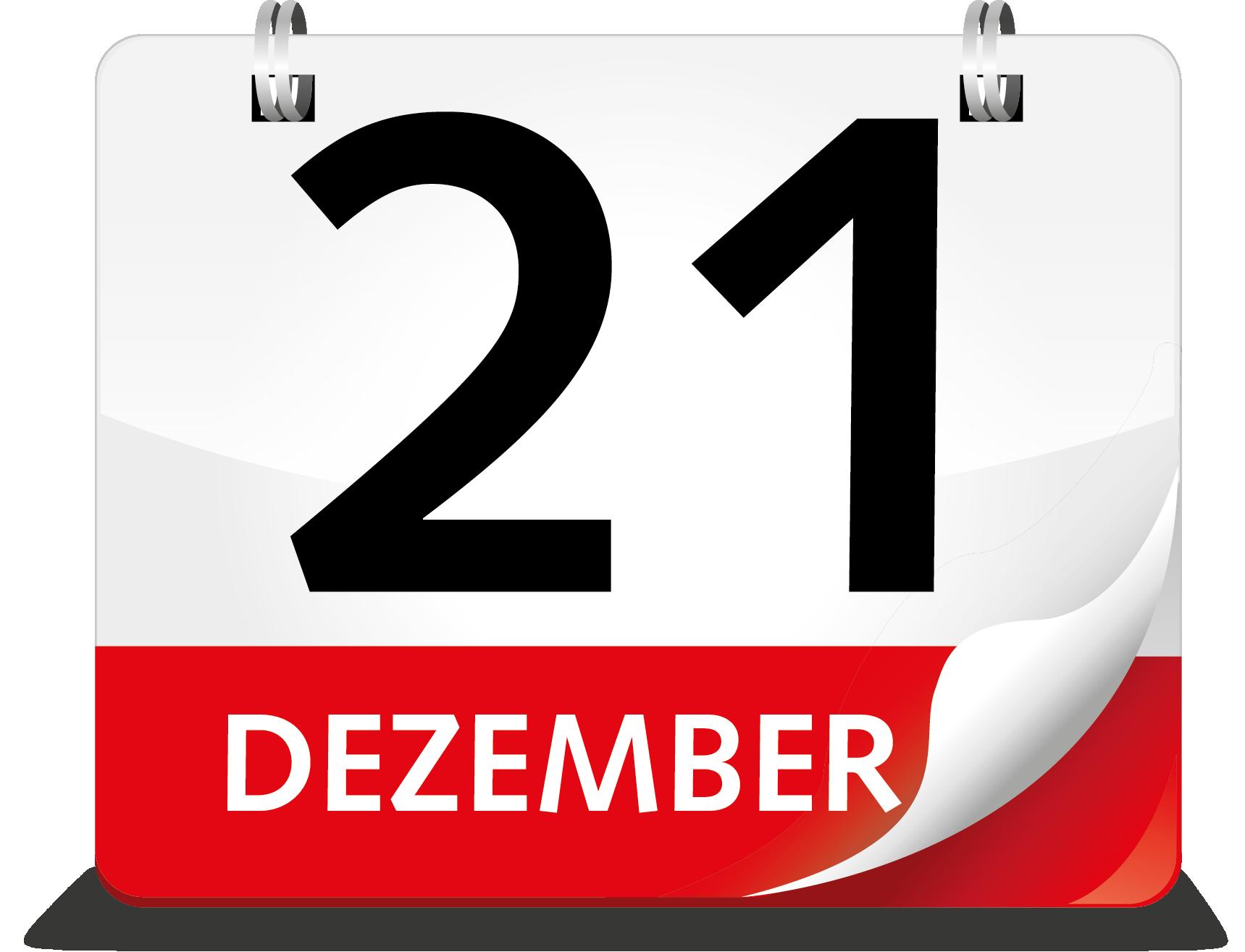 Kalenderblatt 21. Dezember