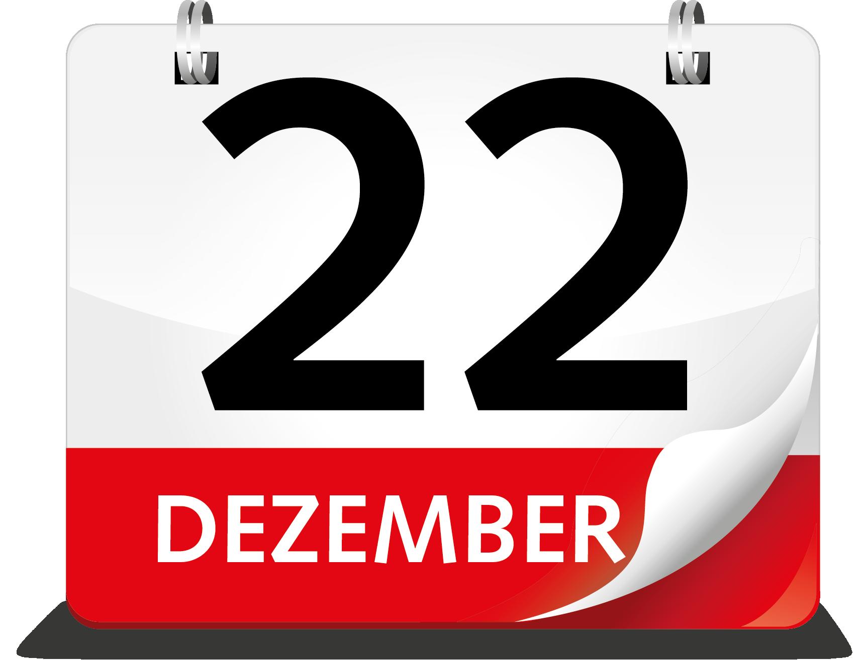 Kalenderblatt Dezember 22