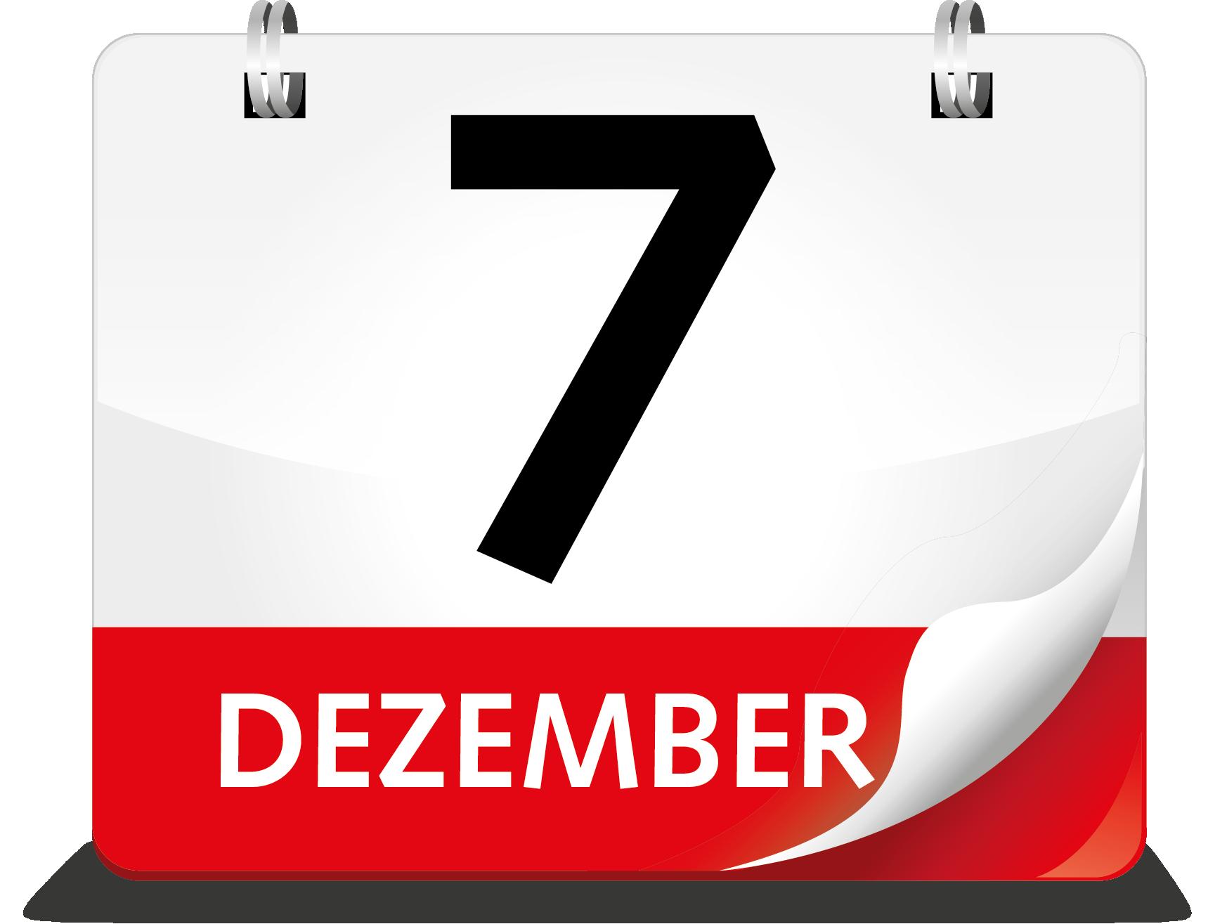 Kalenderblatt Dezember